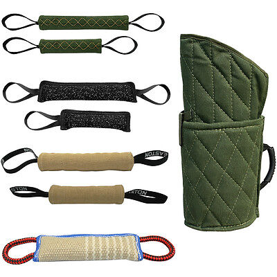 Pet Dog Training Bite Tug Toys Medium Large Dog Bite Arm Sleeve Army Green