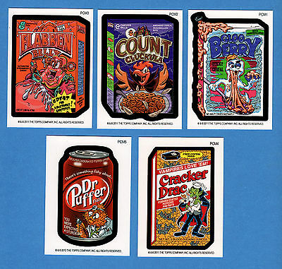 2011 Topps WACKY PACKAGES Mini Postcards COMPLETE Card Set PCM1-PCM5 not sticker