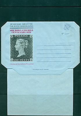 GB 1979  Rowland Hill Airletter 12p unused, some wrinkles