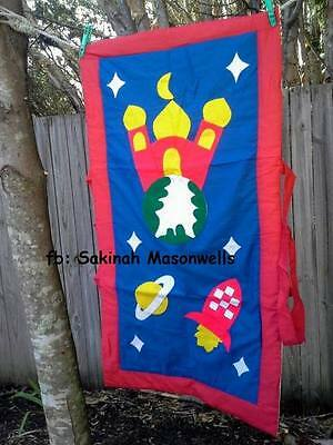 Kid's Muslim Prayer Mat Rocket