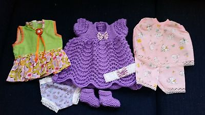 "Set of 3 Handmade Outfits To Fit Baby Born Size Dolls (16"" - 17"")"