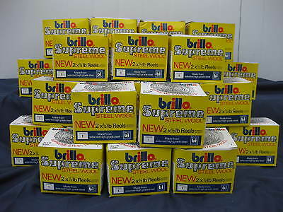 Job Lot 26 Boxes of Supreme Steel Wool ~ Old Stock ~ 26 x 1/2 lb Reels ~ Brillo