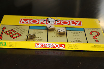 Vintage Board GAME RETRO AUSTRALIAN MONOPOLY METAL PIECES