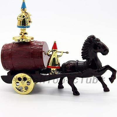 New Antique Look Horse Barrel Carriage Mechanical Music Box Good Girl Gift