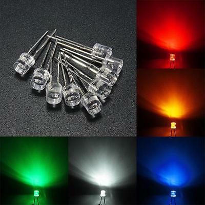 10pcs 3mm/5mm flat top clear LED LED light various water lamps DIY