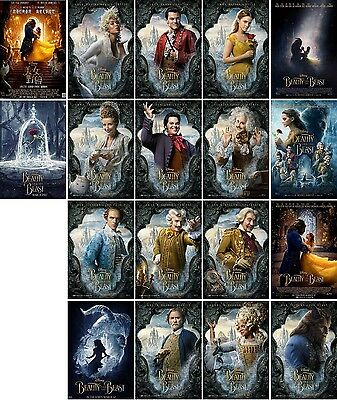 18 postcards of Beauty and the Beast moive poster magic fantasy fairy story new