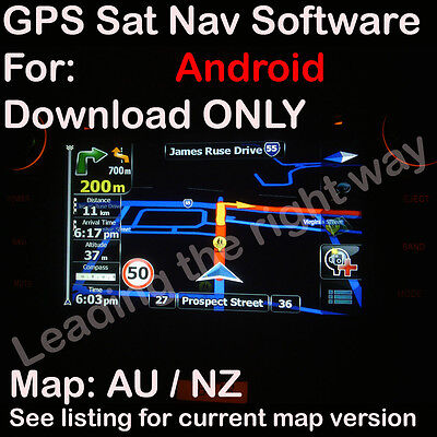 iGO 9.6 ANDROID GPS SOFTWARE MAP for AU NZ UK IR maps 2017 Q1 DOWNLOAD ONLY