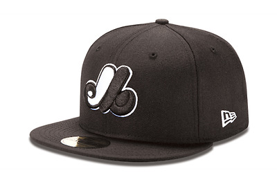 New Era 5950 MONTREAL EXPOS Black White Cap 59FIFTY Fitted MLB Baseball Hat