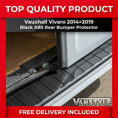NEW VAUXHALL VIVARO 2014 On REAR BUMPER PROTECTOR TOUGH ABS BLACK STOPS DAMAGE
