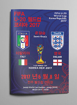 ITALY v ENGLAND 8 June 2017 WC U20 SEMI FINAL from South Korea RARE FAN edition