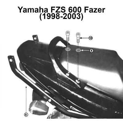Kappa K3400 Specific Rear Top Box Rack - Yamaha FZS 600 Fazer (1998-2003)