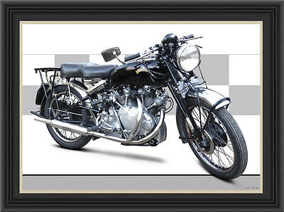 Vincent Rapide 1950 Motorcycle Print /  Motorcycle Poster