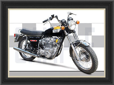 TRIUMPH T150v TRIDENT 1973 MOTORCYCLE PRINT /  MOTORCYCLE POSTER
