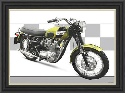 TRIUMPH T150 T Trident MOTORCYCLE PRINT /  MOTORCYCLE POSTER