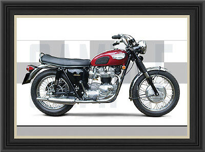 Triumph T120R Motorcycle Print /  Motorcycle Poster