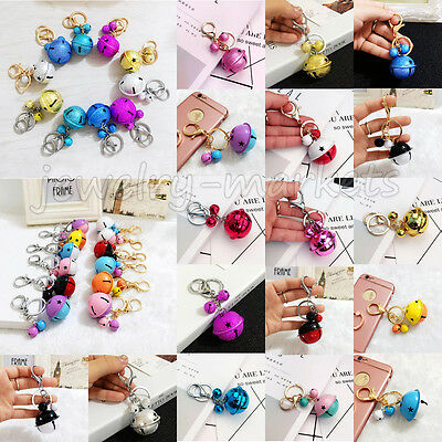 Cute Bell Pendant Keyring Keychain Alloy Key Chain Ring Keyfob Bag Accessory