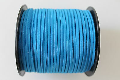 10 Meters Cobalt Blue Colour Suede Leather Cord