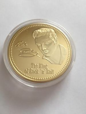 Gold Coin Layered Elvis Presley Gold Coin NEW   ( FREE POSTAGE )