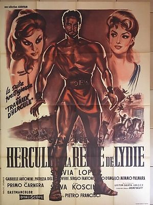 HERCULES UNCHAINED French movie poster STEVE REEVES PEPLUM 1959