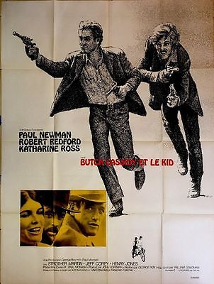 BUTCH CASSIDY french MOVIE POSTER - PAUL NEWMAN ROBERT REDFORD