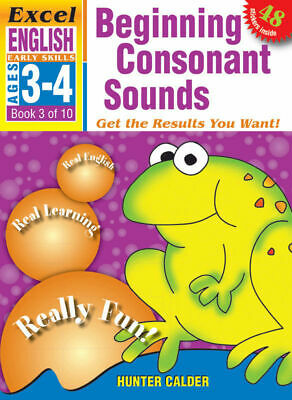 Excel Early Skills - English Book 3 - Beginning Consonant Sounds 9781877085802