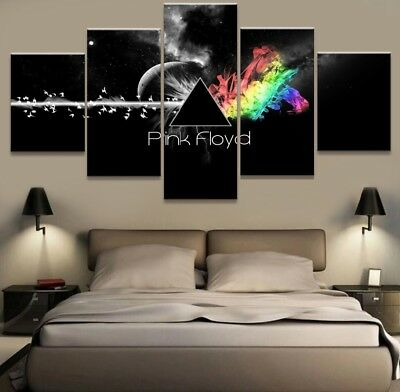 Framed Home Decor Canvas Print Painting Wall Art Modern Pink Floyd Rock Music