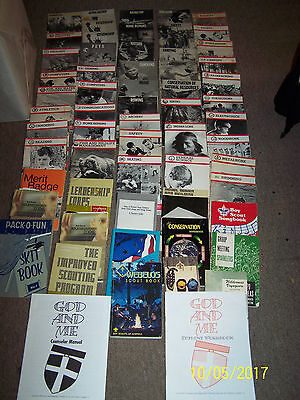 Lot of 59 Boy Scouts Books Scout merit badge books BSA vintage 1960's-2000 ++