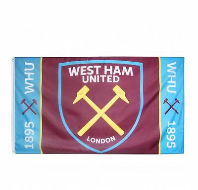 West Ham Claret Blue 1895 Five Foot By Three Foot Flag