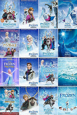 16 postcards of Frozen heart Disney Animation film moive poster snow queen new