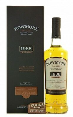 Bowmore 1988-2017 Islay Single Malt Scotch Whisky 0,7l, alc. 47,8%