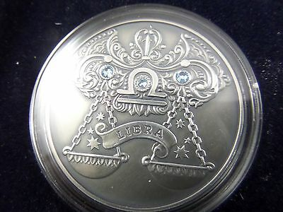 2014 Belarus Signs of the Zodiac 20 Rubles Libra Sterling Silver Coin