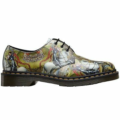 Dr.Martens 1461 3-Eyelet George and Dragon Backhand Leather Men Shoes