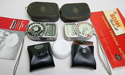 Two Working Sangamo Weston Light Meters - Plus Extras