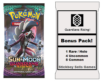 Guardians Rising Booster pack + Bonus pack - Pokemon TCG - Sun & Moon