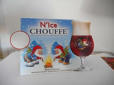 1 Chevalet Double Face Biere Chouffe  N'ice Chouffe  Neuf Bistrot Enseigne