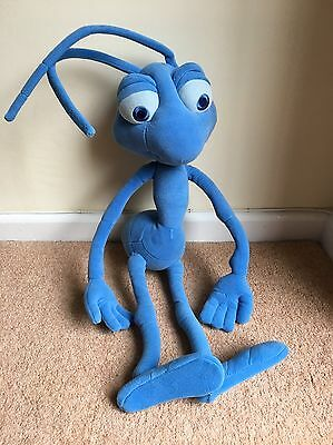"Disney A Bugs Life Large Poseable Flik Plush. 22"" Blue Ant. Rare Soft Toy"