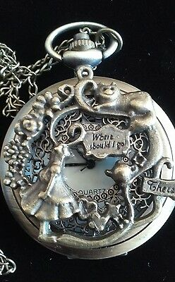 Alice In Wonderland Clock Rare Collectable Antique Style Watch