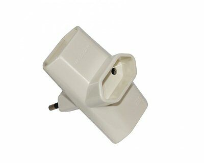 Adaptador Triple Horizontal 10A, Base Multiple Ladron 3 toma fina