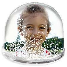 Personalised Gift Snow Dome for £8.99- (Photos on both sides)