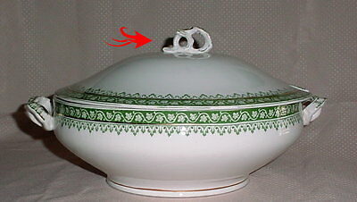 Ridgway Ridgways The Monterey Green Tureen with Lid England Semi Porcelain