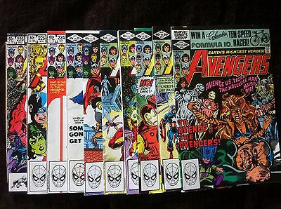 10x High Grade Marvel Comics The Avengers #216 - #226