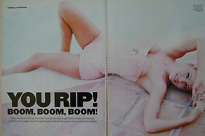 PAMELA ANDERSON - magazine clipping / cutting from 1996
