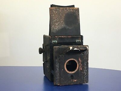 Vintage Plate Camera With Rollex Roll Film Adaptor, No Lens - FOR PARTS ONLY