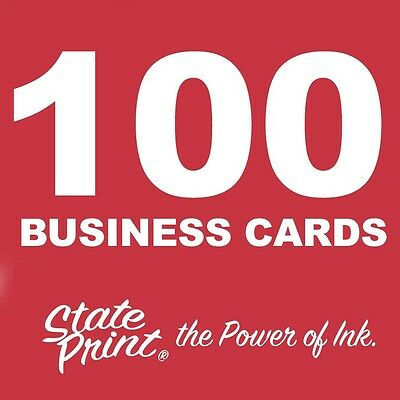 100 Business Cards - 2 Sides - FULL COLOR - FRONT & BACK - Plus FREE Shipping