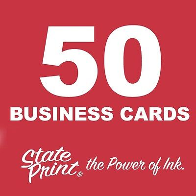 50 Business Cards - FULL COLOR (FRONT & BACK) - Plus FREE Shipping
