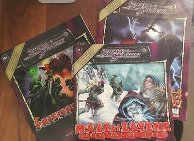 M1 M2 M3 Maze of Zayene series Rob Kuntz Necromancer Games dnd d20