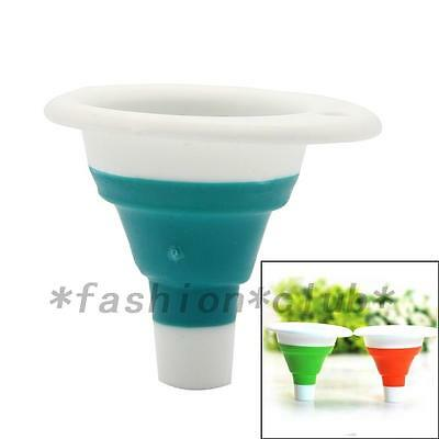 Silicone Gel Practical Foldable Collapsible Style Funnel Hopper Kitchen Tool