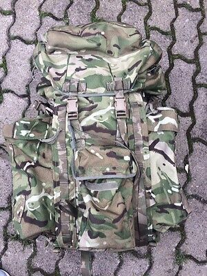 UK British Army NEW issued MTP short back bergen rucksack with side pouches