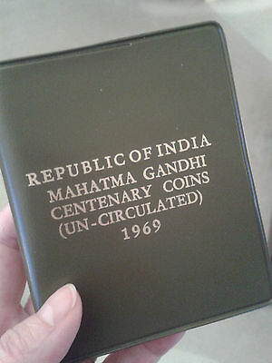 Republic of India Mahatma Gandhi Centenary Coins (Uncirculated) 1969