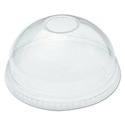 Ultra Clear Dome Cold Cup Lids F/16-24 Oz Cups, Pet, 100/pack-DCCDLR626PK
